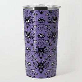Purple Haunted Mansion Wallpaper Travel Mug