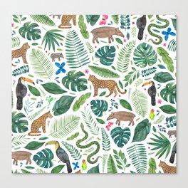 Jungle/Tropical Pattern Canvas Print