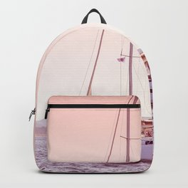 BlushPink Nature | Nautical Art Print | Travel Photography | Soft Blush Pastel Colored Sky Backpack