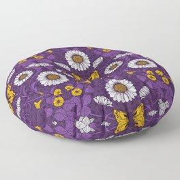 Art Nouveau daisies  Floor Pillow