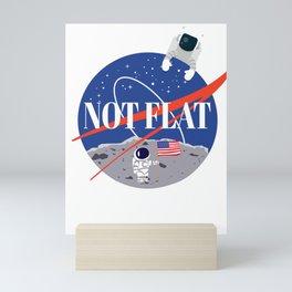 Not Flat We Checked Funny Flat Earth Debunk Mini Art Print