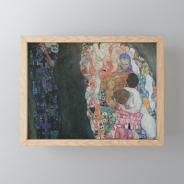Life and Death - Gustav Klimt Framed Mini Art Print