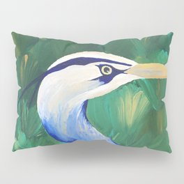 Heron in the Grass Pillow Sham