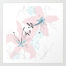 Lillies and Gems Art Print
