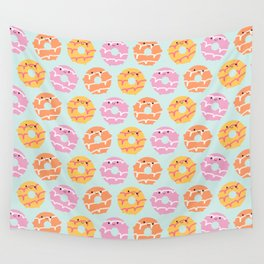 Kawaii Party Rings Biscuits Wall Tapestry