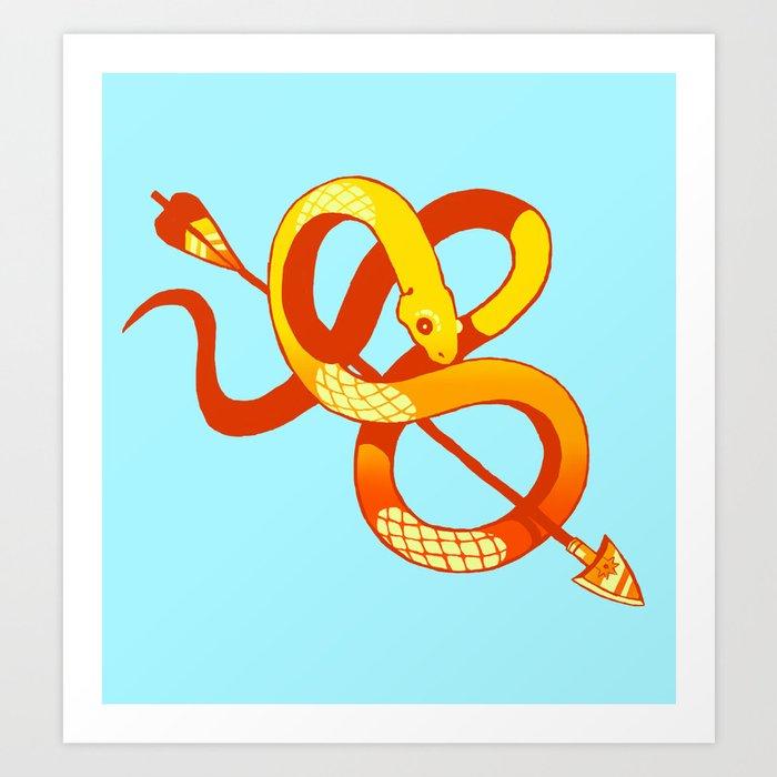 gold snake Art Print