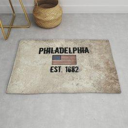 Tribute to Philadelphia, City of Brotherly Love Rug