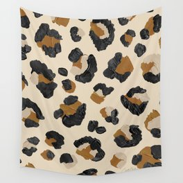 Leopard Print – Neutral Gold Light Palette Wall Tapestry
