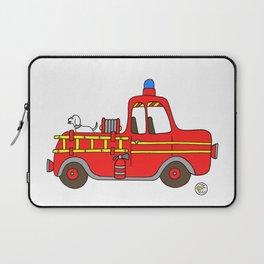 red vintage firetruck Laptop Sleeve