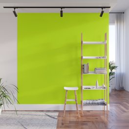 Bright green lime neon color Wall Mural