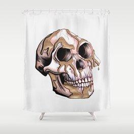 Kintsugi Lucy Skull Shower Curtain