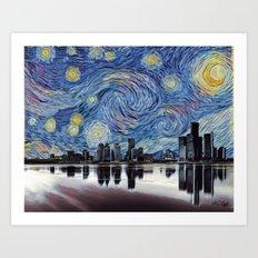 Goodnight Detroit Art Print