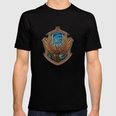 Hogwarts House Crest - Ravenclaw Book Mens Fitted Tee LARGE Black