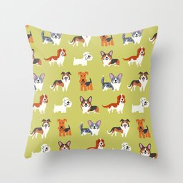 WELSH DOGS Throw Pillow