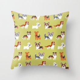 WELSH DOGS Throw Pillow