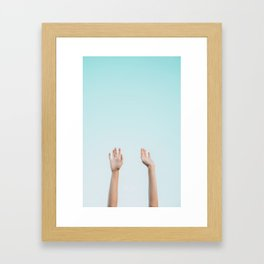 Hands in the Air Framed Art Print