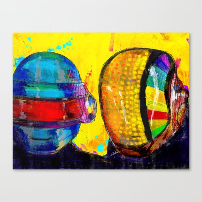 Daft Punk Canvas Print by archann | Society6