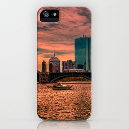 Longfellow Bridge , Boston, Massachusetts iPhone Case