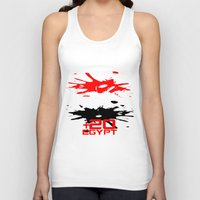 egypt Tank Tops featuring Egypt Code by Maxvtis