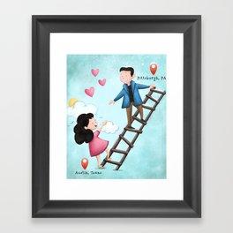 Long Distance Love Framed Art Print