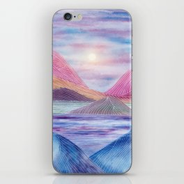 Lines in the mountains XVII iPhone Skin