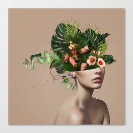 Lady Flowers llll Canvas Print