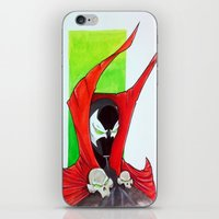 spawn iPhone & iPod Skins featuring Spawn Bust by Atom Bomb Studio