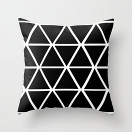 BLACK & WHITE TRIANGLES 2 Throw Pillow
