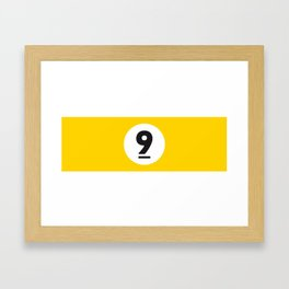 9 ball yellow Framed Art Print