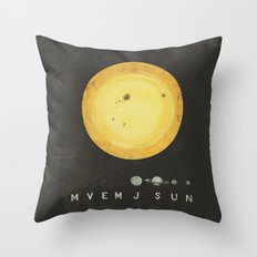 Planetary Arrangement Throw Pillow