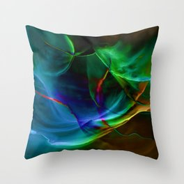 Aurora Blue Throw Pillow