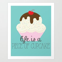 Sweet Cupcake Nothings Vanilla Bean Art Print