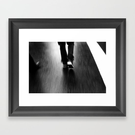 Street Walking Framed Art Print