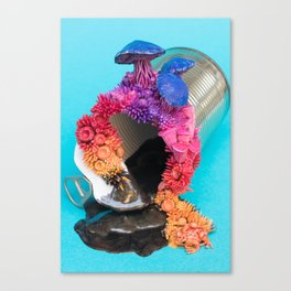 Sunrise, Coral Reef on Tin Can Canvas Print