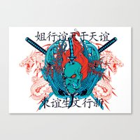 oriental Canvas Prints featuring Oriental by Tshirt-Factory