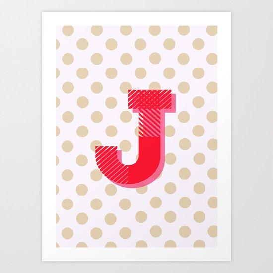 J is for Joy Art Print
