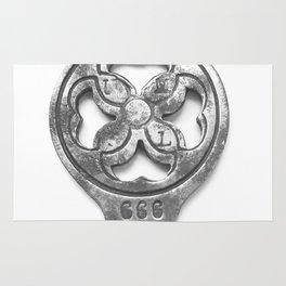 antique and unique key I Rug