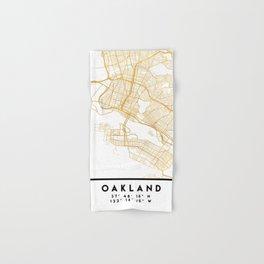 OAKLAND CALIFORNIA CITY STREET MAP ART Hand & Bath Towel