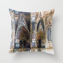 Koln cathedral's facade Throw Pillow