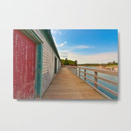 PEI Beach Boardwalk Metal Print
