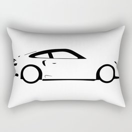 Fast Car Outline Rectangular Pillow