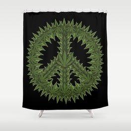 Weed Peace Sign - Marijuana THC CBD Stoner Shower Curtain