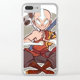 Avatar Aang Clear iPhone Case