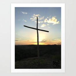 Ruby Ranch Cross Art Print