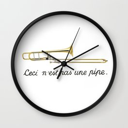 Trombone Surrealism Wall Clock