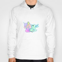 magical girl Hoodies featuring Magical pet (Baby Girl) by Olluga