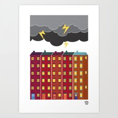 STORM PRINT Art Print
