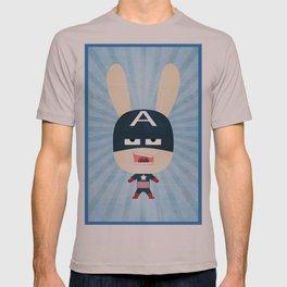 We are all rabbits \ Captain America - Todos somos conejos \  Capitan america T-shirt