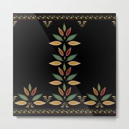 """""""Tree of Polka Dots Leaves (Black)"""" Metal Print"""