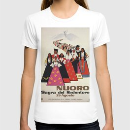 Nuoro Sardinia vintage Italian travel ad T-shirt
